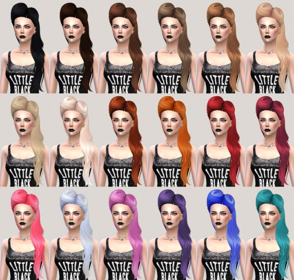 Salem2342: Nightcrawler Hair 21 Retextured for Sims 4