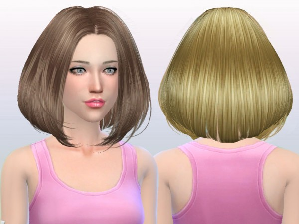 Butterflysims: Hair 167 Nohat for Sims 4