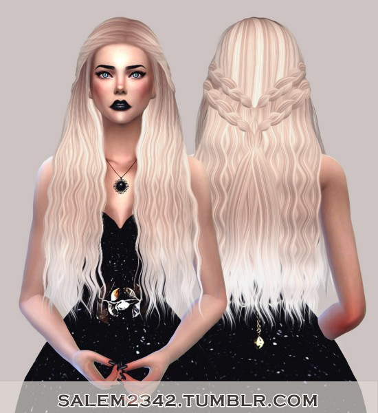 Salem2342: Stealthic Cadence hair retextured for Sims 4