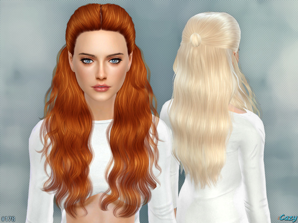 The Sims Resource: Hannah hairstyle by Cazy for Sims 4