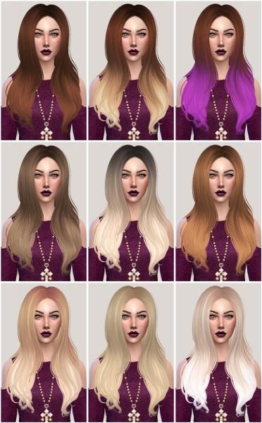 Salem2342: Sintiklia`s hair 25 Ashe retextured for Sims 4