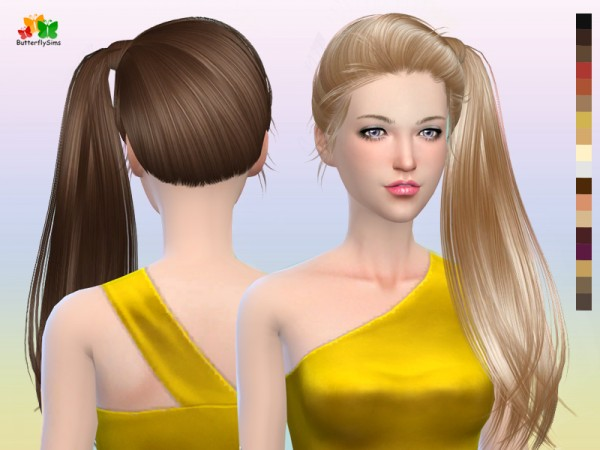 Butterflysims: Side Ponytail Hair 164 for Sims 4