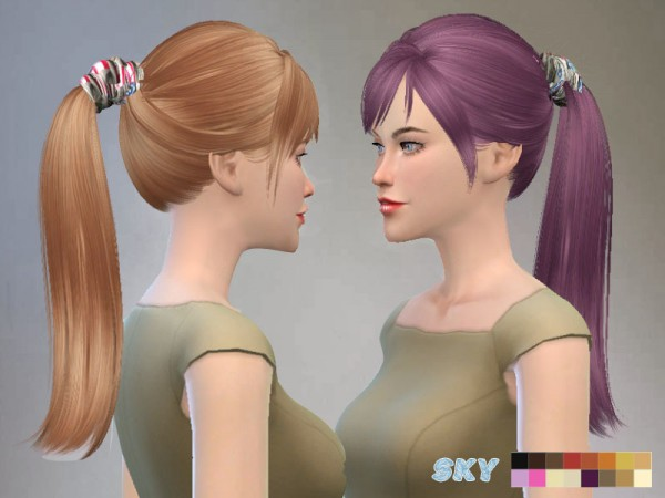 The Sims Resource: Hair 115 by Skysims for Sims 4