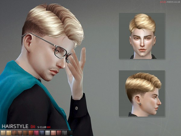 The Sims Resource: MK Hair N4 by S Club for Sims 4