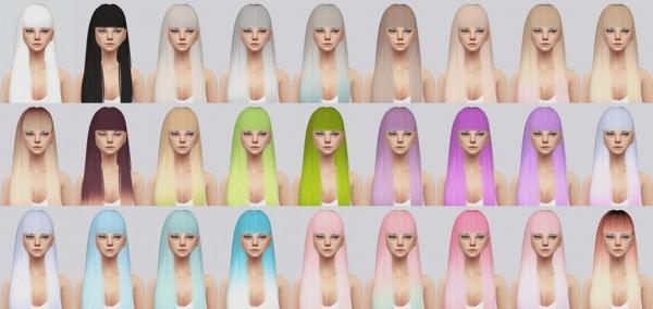 Kalewa a: Poison hair retextured for Sims 4