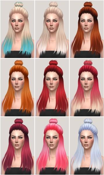 Salem2342: Sintiklia Hair16 Eliza retextured for Sims 4