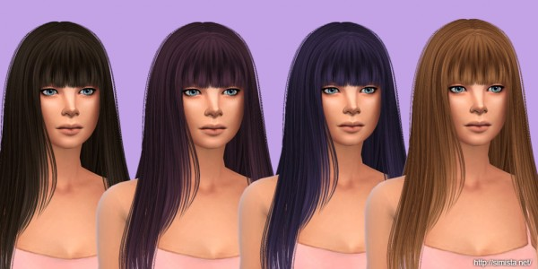 Simista: Hair retextured for Sims 4