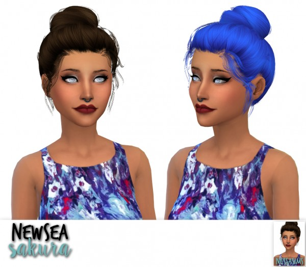 Nessa sims: Cazy`s notorious, Newsea`s sakura and Nightcrawler`s moonrise for Sims 4