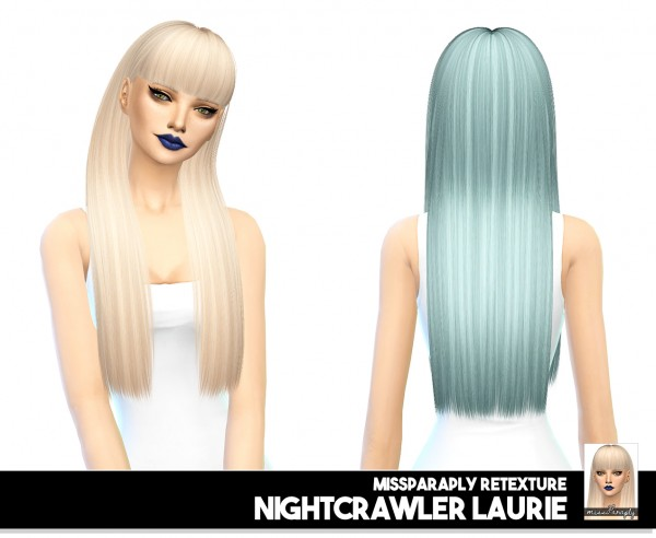 Miss Paraply: Nightcrawler hair retextured for Sims 4