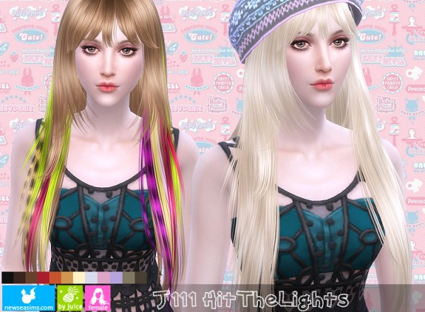 NewSea: J111 Hit The Lights hair for Sims 4