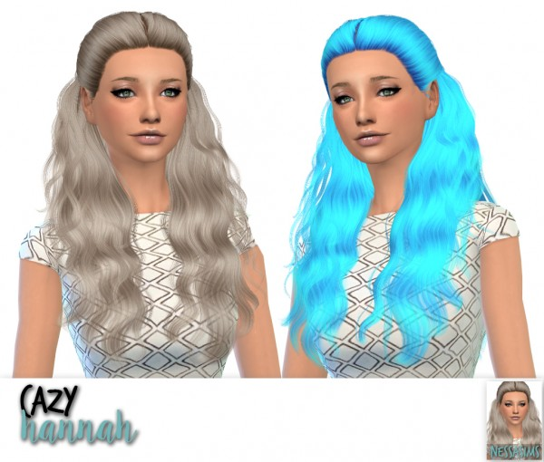 Nessa sims: Cazy`s hannah, over the light and sweet misery hairs retextured for Sims 4