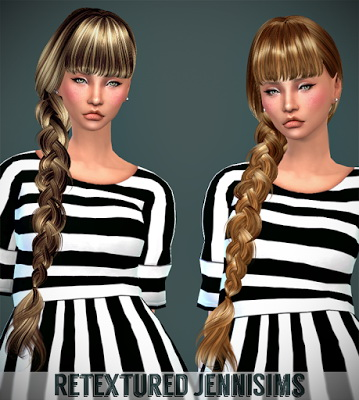 Jenni Sims: Butterfly`s 166 hair retextured for Sims 4