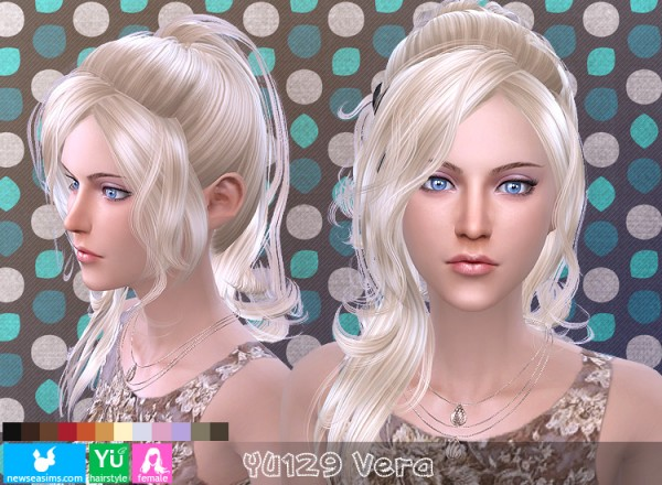 NewSea: YU 129 Vera hair for Sims 4