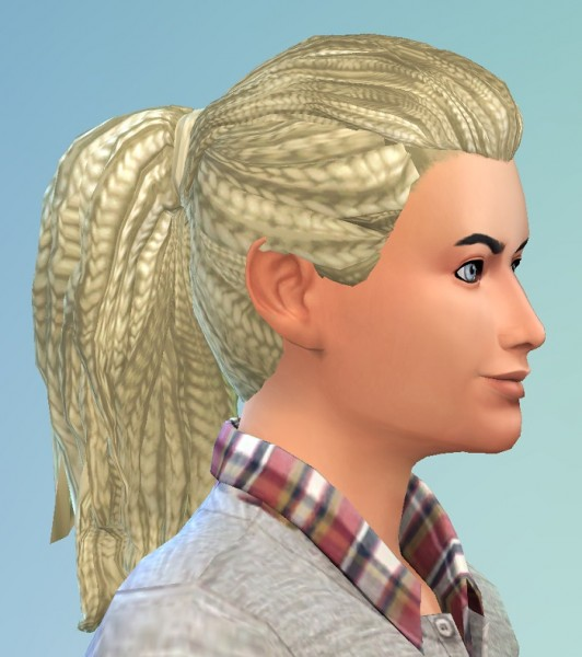 Birksches sims blog: Dreads Ponytail hair for Sims 4