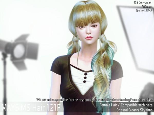 MAY Sims: May Hair 121F for Sims 4