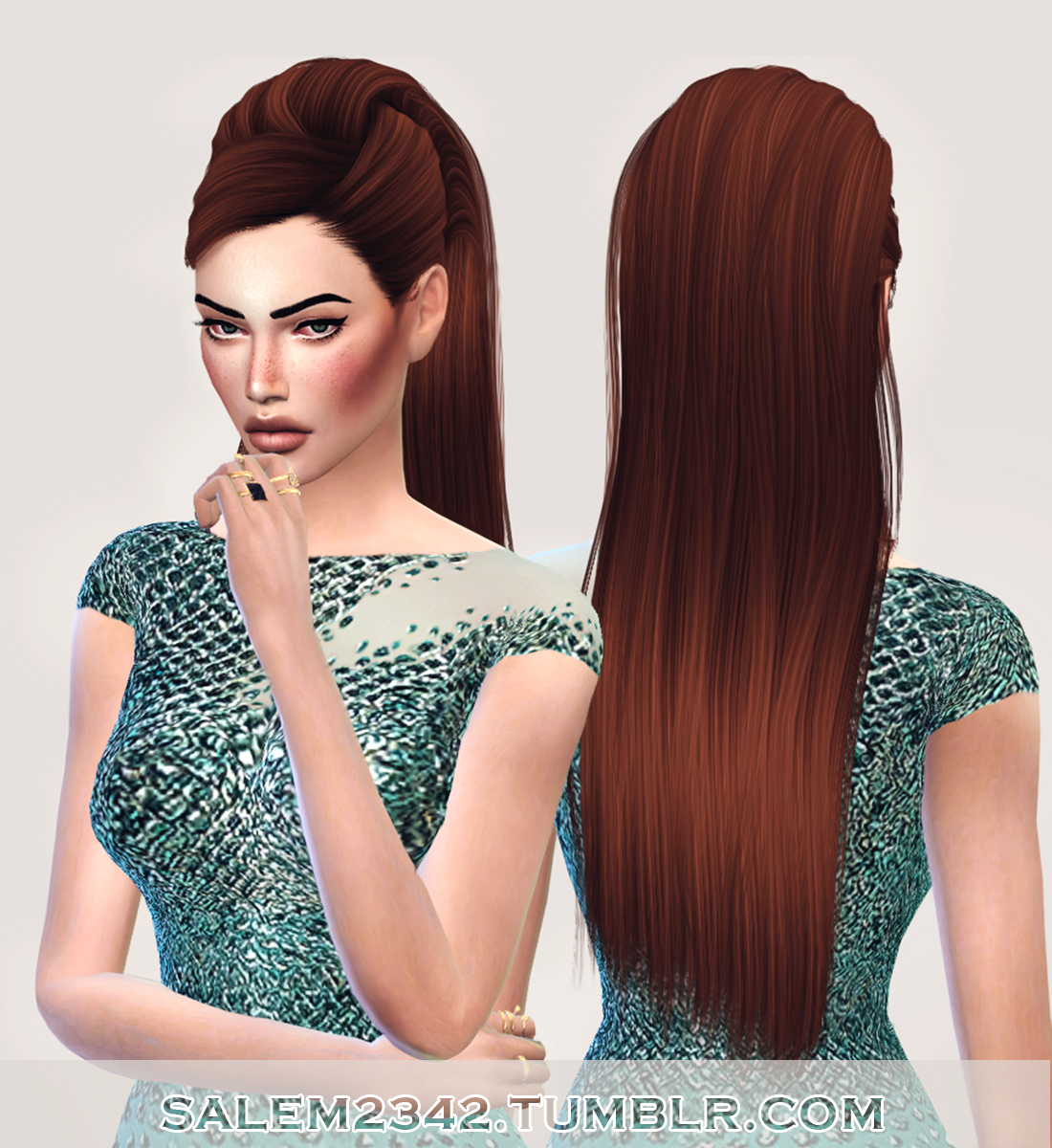 Sims 4 Hairstyles: Salem2342: Stealthic`s Reprise Hair Retextured