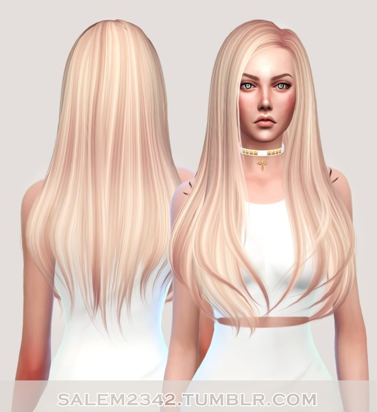 Salem2342: Butterfly`s 145 hair retextured for Sims 4
