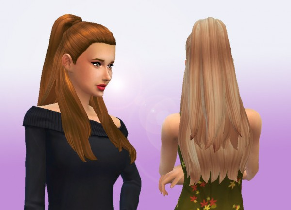 Mystufforigin: Ariana hair for Sims 4