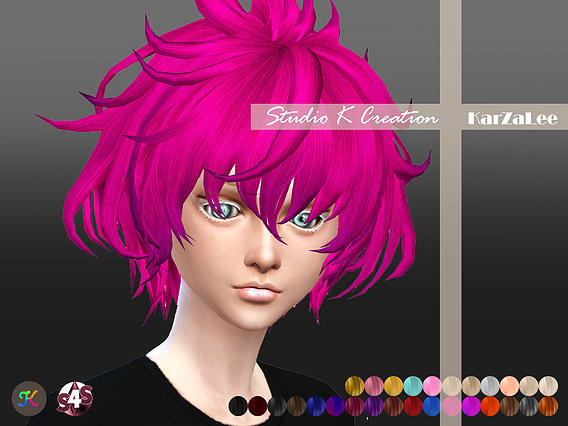 Studio K Creation: Animate hair 33   Carl for Sims 4