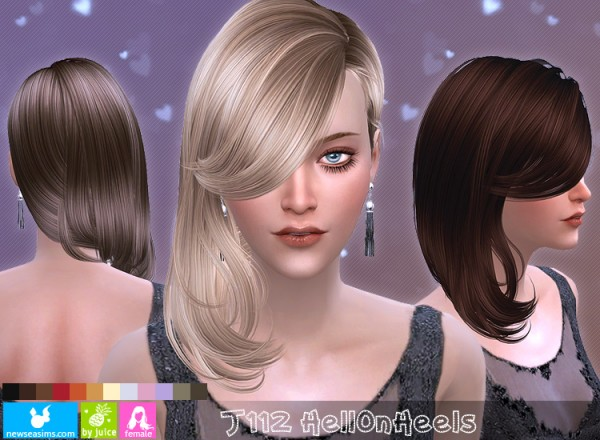 NewSea: J112 Hell On Heels hair for Sims 4