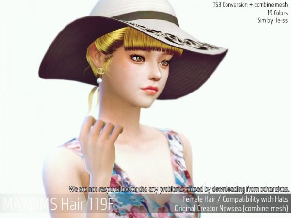MAY Sims: May Hair 119F for Sims 4
