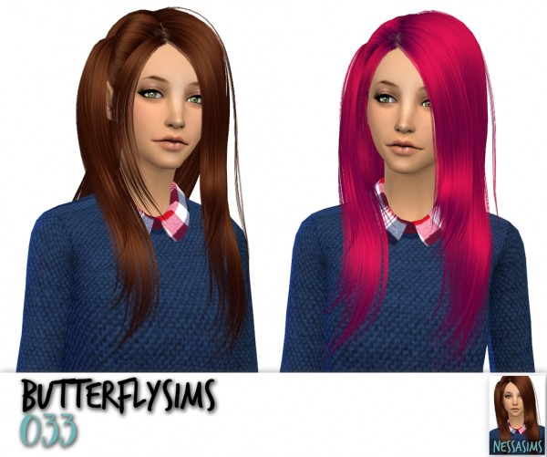 Nessa sims: Hairstyles retextured for Sims 4