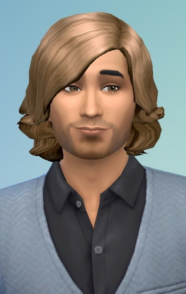 Birksches sims blog: Short Swept Hair for Male for Sims 4