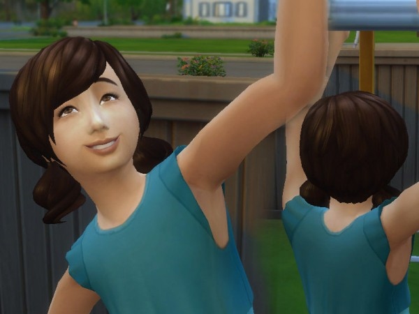 The Sims Resource: Dolly Hair for Girls for Sims 4