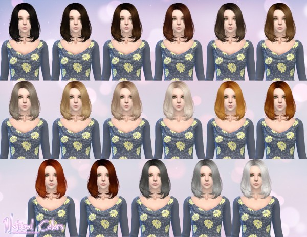 Aveira Sims 4: Newsea Lafite hair retextured for Sims 4