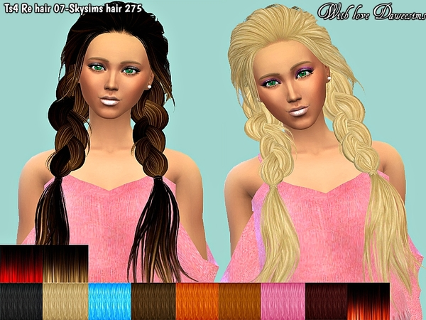 The Sims Resource: Retexture Skysims hair 275 by Daweesims for Sims 4