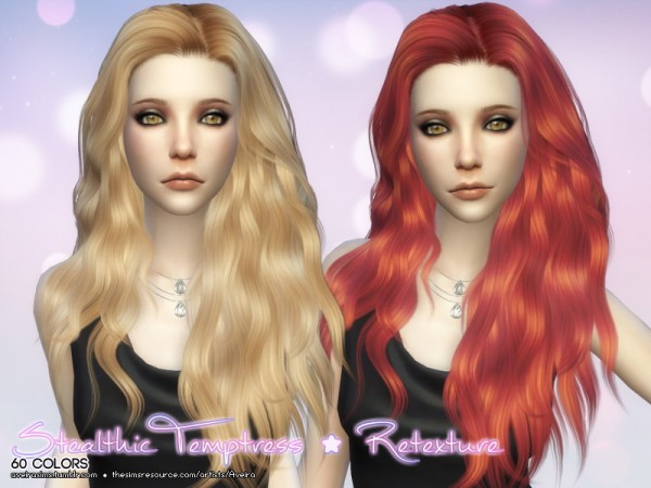 Aveira Sims 4: Stealthic Temptress hairs retextured for Sims 4