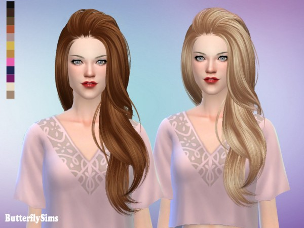 Butterflysims: Hair 170Ki No hat for Sims 4