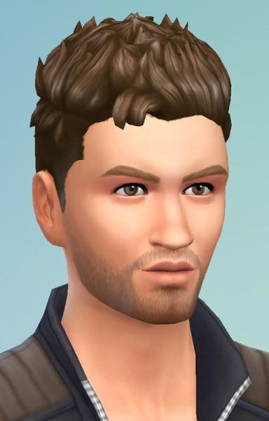 Birksches sims blog: Spikey Hair for Sims 4
