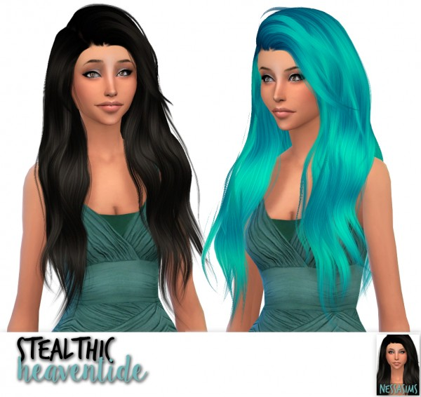 Nessa sims: Sintiklia`s Lioness, Skysims 084 and Stealthic`s Heaventide hairs retextured for Sims 4