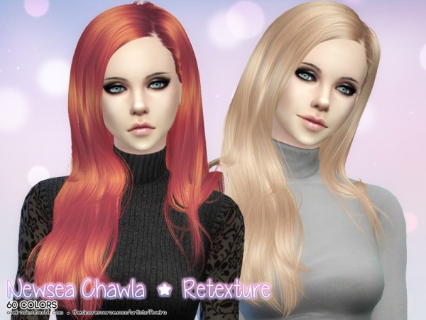Aveira Sims 4: Newsea`s Chawla hair retextured for Sims 4