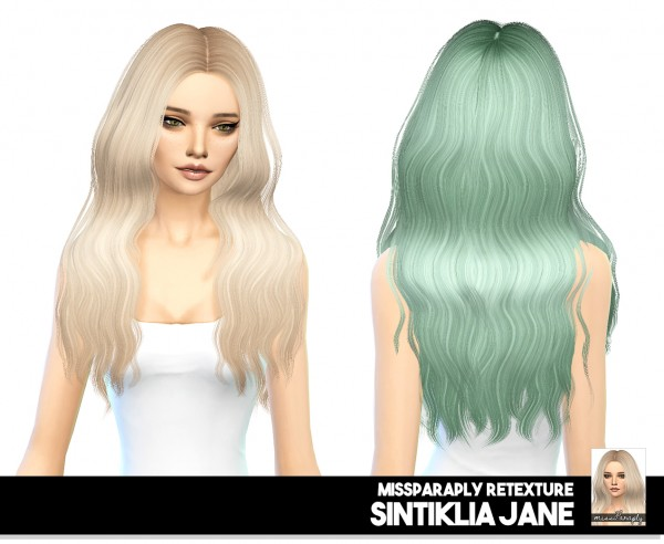 Miss Paraply: Sintiklia Jane: solid & dark roots hair for Sims 4