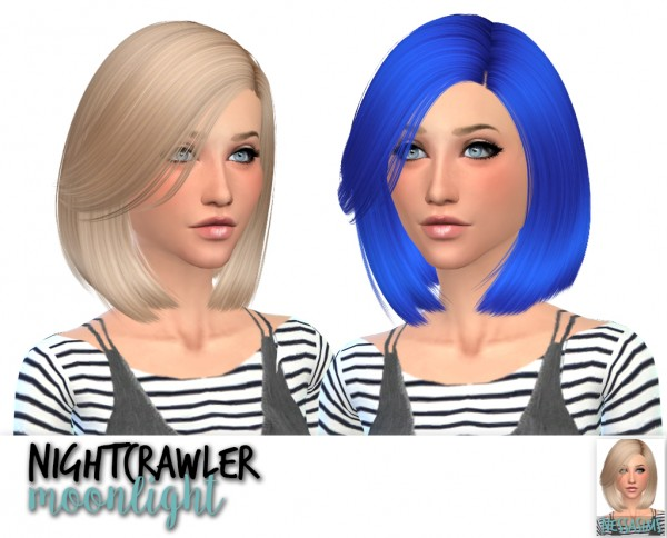 Nessa sims: Nightcrawler`s invisible light, lydia, moonlight hair retextured for Sims 4