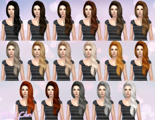 Aveira Sims 4: Butterfly`s 170 hair retextured for Sims 4