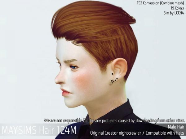 MAY Sims: May Hair 124 for Sims 4