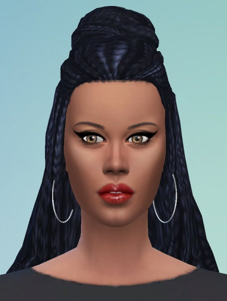 Birksches sims blog: Braid Bun for her for Sims 4