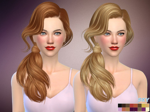 The Sims Resource: Hair 277 Bess by Skysims for Sims 4