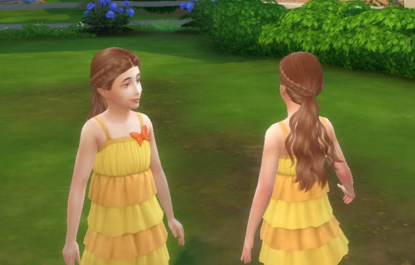 Mystufforigin: Skysims Hairstyle 270 Tina Conversion for Sims 4