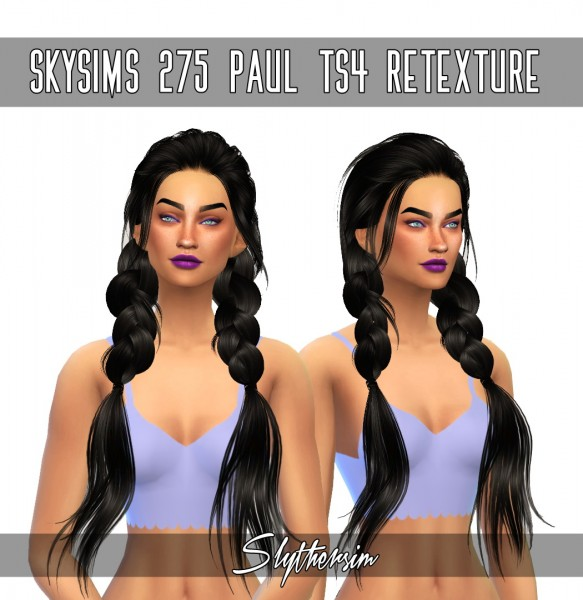 Monolith Sims: Skysims 275 Paul hair retextured for Sims 4