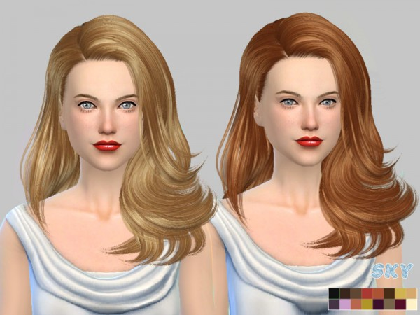 The Sims Resource: Hair 221 Monik hair by Skysims for Sims 4