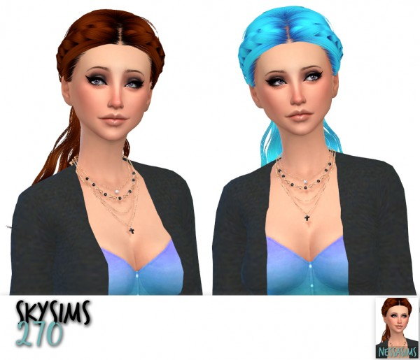 Nessa sims: Skysims 067, 126 and 270 hairs retextured for Sims 4