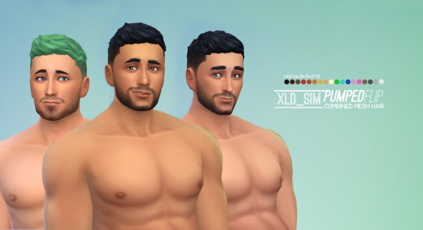 Mod The Sims: Pumped Flip Hair by Xalder for Sims 4