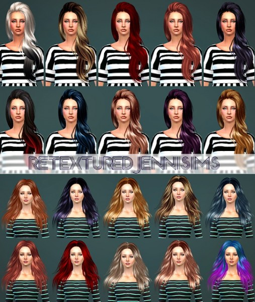 Jenni Sims: Butterfly 170 ,SkySims 271 hairs retextured for Sims 4
