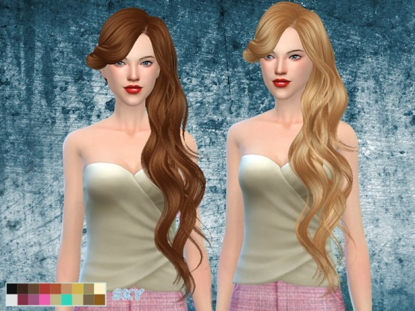 The Sims Resource: Hair 276 Lisa by Skysims for Sims 4