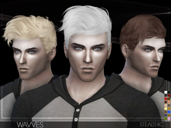 Stealthic: Wavves Hair for Sims 4