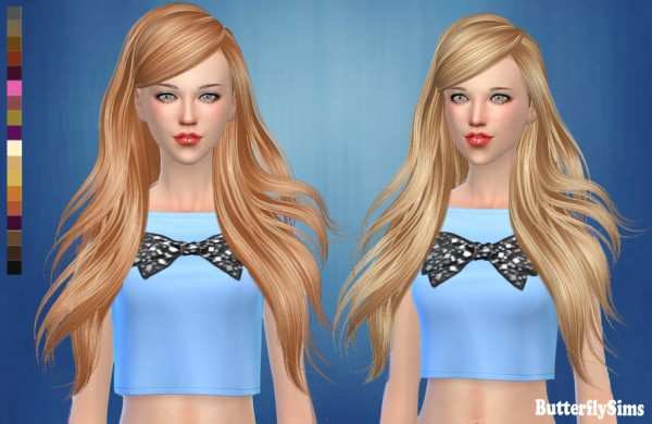 Butterflysims: Hair 181 for Sims 4